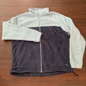 Columbia blue fleece full zip XL
